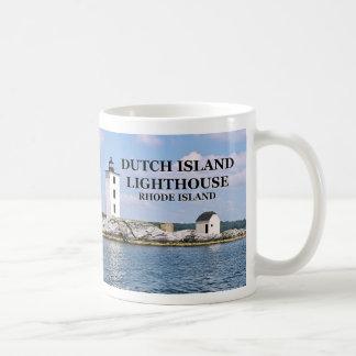 Faro holandés de la isla, taza de Rhode Island