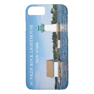 Faro hundido de la roca, Nueva York Funda iPhone 7
