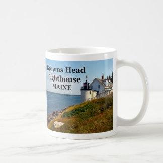 Faro principal de los marrones, taza de Maine