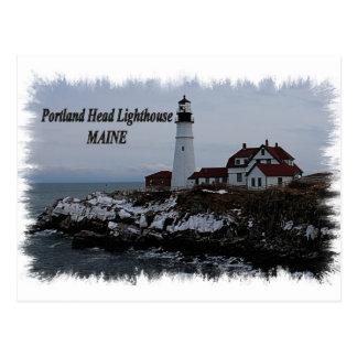 Faro principal de Portland - Maine Tarjeta Postal