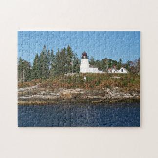 Faro quemado de la isla, rompecabezas de Maine