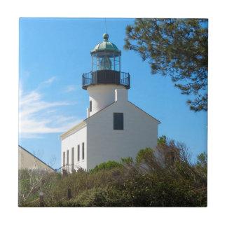 Faro viejo del Point Loma Azulejo De Cerámica