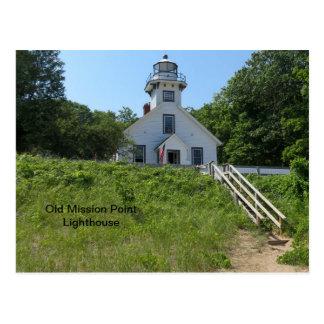 Faro viejo del punto de la misión postal