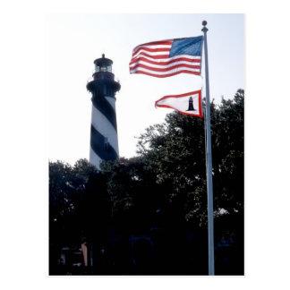 Faro y Flages de St Augustine Postal