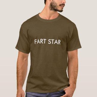 Fart la estrella Brown Camiseta