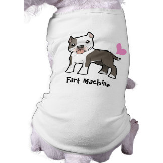Fart la máquina (Pitbull/Am Staffordshire Terrier) Camiseta Sin Mangas Para Perro