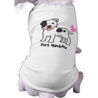 Fart la máquina (Staffordshire bull terrier) Camiseta Sin Mangas Para Perro