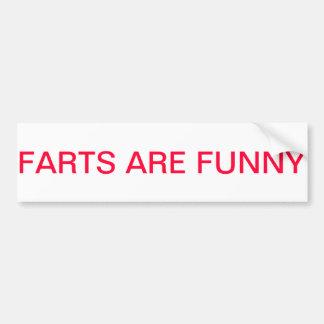 Farts es divertido pegatina de parachoque