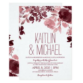 Fascinación pintada casar la invitación - vino y