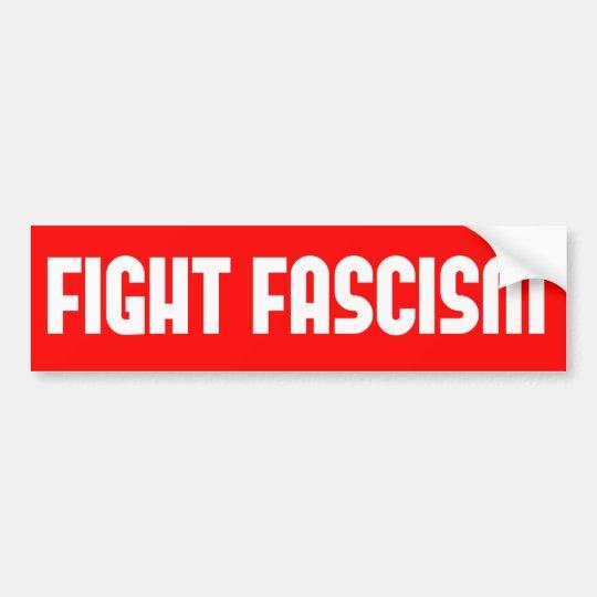 Fascismo de la lucha pegatina para coche