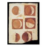 Fases 1616 de la luna de Galileo Postales
