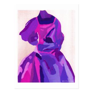 Fashionista de la diva en azul postal