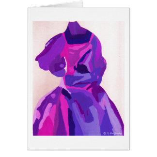 Fashionista de la diva en azul tarjeta de felicitación