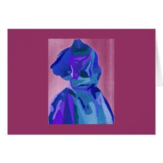 Fashionista de la diva en el azul I Tarjeta De Felicitación