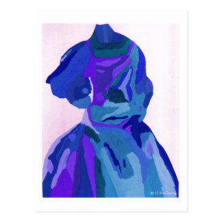 Fashionista de la diva en el azul I Tarjetas Postales