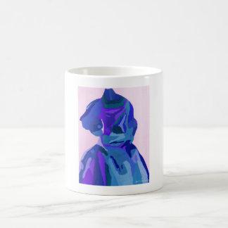 Fashionista de la diva en el azul I Tazas De Café
