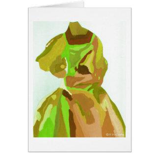 Fashionista de la diva en primavera tarjeta de felicitación