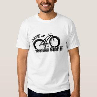 """Fatbike T-Shir """"no soy gordo, pero mi bici es """" Camisetas"""
