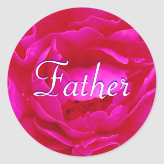 Father Pink Rose Sticker Sticker