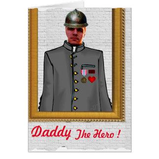 """Father' s Day Wish Card - Personalyse """"Daddy Hero Tarjeta De Felicitación"""