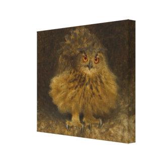 Fauna del búho CC0482 de Bruno Liljefors Eagle Lienzo