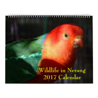 Calendario De Pared Fauna en el calendario de Nerang 2017