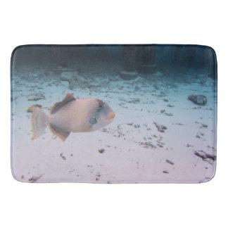 Fauna subacuática tropical de los pescados de la alfombrilla de baño