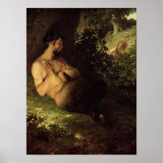 Fauno y ninfa, 1868 impresiones