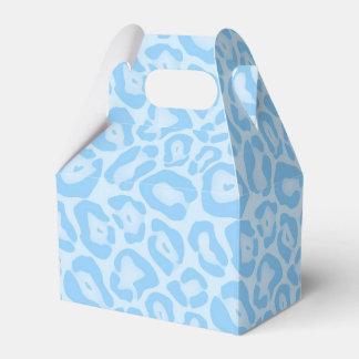 Favor azul del safari de la impresión del guepardo caja de regalos