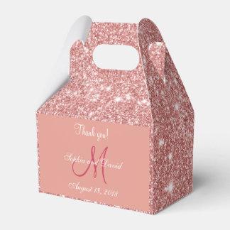 Favor color de rosa elegante elegante del boda del caja de regalos