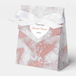 Favor color de rosa rosado del boda del cumpleaños caja para regalos