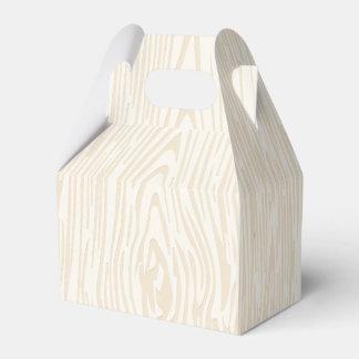 Favor de banquete de boda de madera del moreno caja de regalos