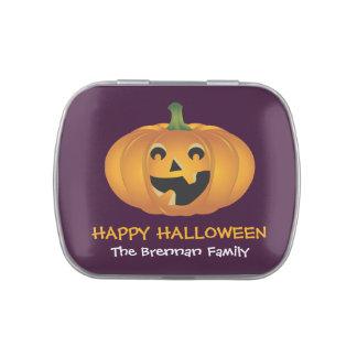 Favor de encargo de Halloween de la calabaza alegr
