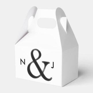 """Favor de encargo elegante del boda del signo """"&"""" caja de regalos"""