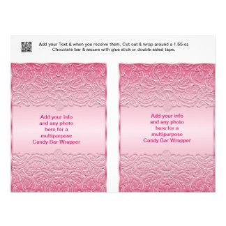 Favor de fiesta multiusos de 2 de caramelo folleto 21,6 x 28 cm