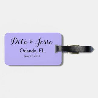Favor de la etiqueta del equipaje del boda del