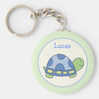 Favor de la tortuga de los amigos de la charca o llavero redondo tipo chapa