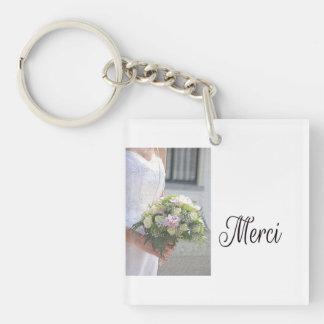 Favor de Merci La Sposa di Sabbia Wedding Llavero Cuadrado Acrílico A Doble Cara