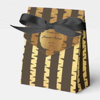 Favor de oro del boda del cumpleaños del caja para regalos