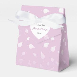 Favor de plata en colores pastel del boda del caja para regalos