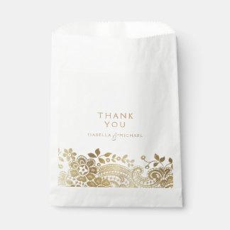 Favor elegante negro del boda del cordón del bolsa de papel