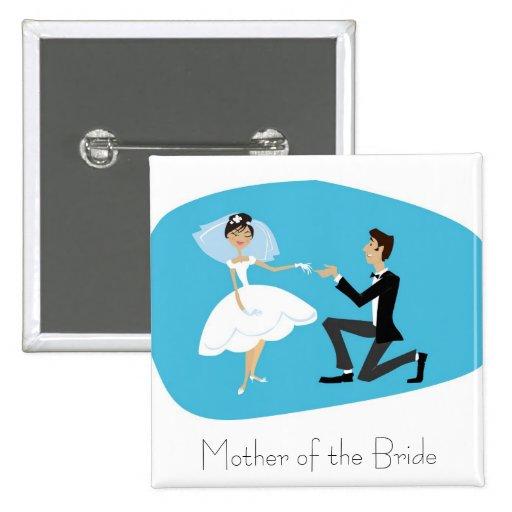 Favor-Madre nupcial de la ducha de la novia Pin
