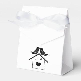 Favor moderno del boda del Lovebird de la caja del
