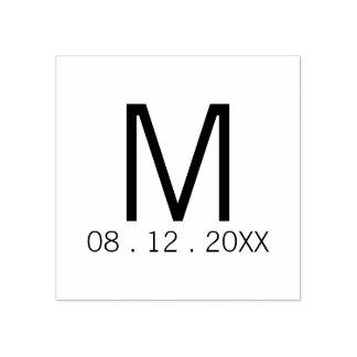 Favor moderno del boda del monograma sello de caucho