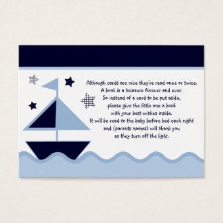 Favor náutico/etiquetas de la marina de guerra de tarjeta de negocios