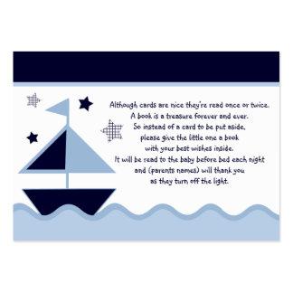 Favor náutico/etiquetas de la marina de guerra de tarjetas de visita grandes