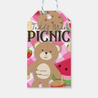 Favor rosado de la fiesta de cumpleaños del verano etiquetas para regalos