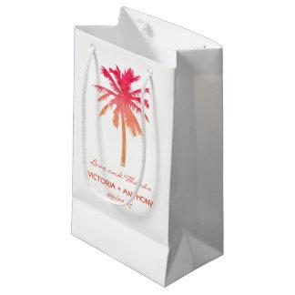 Favor tropical del boda de playa de la palmera de bolsa de regalo pequeña