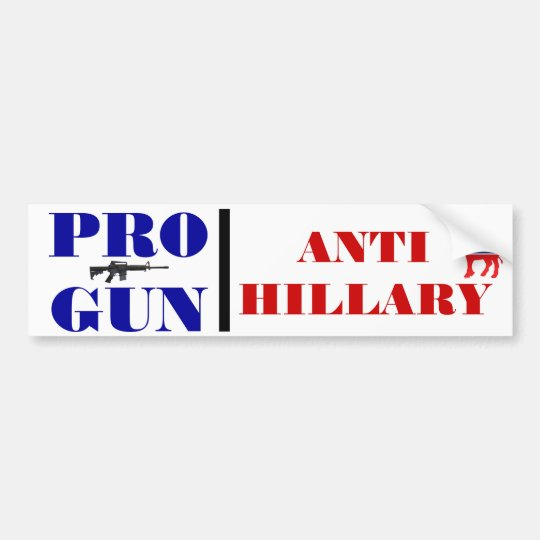 Favorable arma, Obama anti, Hillary anti, Pegatina Para Coche