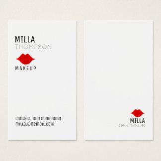 favorable blanco de maquillaje del salón vertical tarjeta de visita